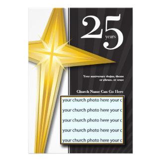 Personalizable aniversario de la iglesia de 25 año anuncios