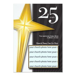 Personalizable aniversario de la iglesia de 25 invitación 12,7 x 17,8 cm