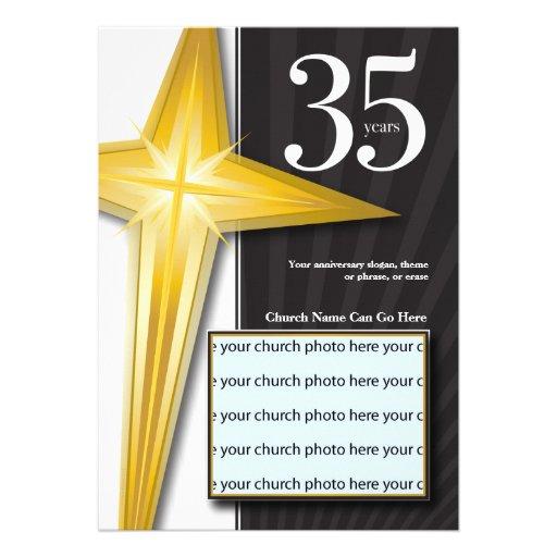 Personalizable aniversario de la iglesia de 35 año anuncio