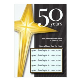 Personalizable aniversario de la iglesia de 50 invitación 12,7 x 17,8 cm