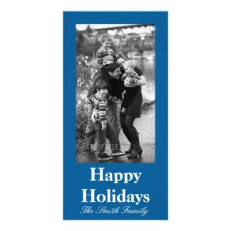Personalizable azul caritativo influyente del tarjetas personales con fotos