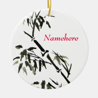 Personalizable: Bambú Adorno Redondo De Cerámica