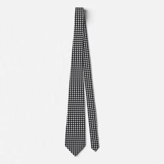 Personalizable blanco y negro de la guinga corbata