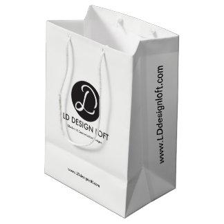 Personalizable con el logotipo de la empresa de bolsa de regalo mediana