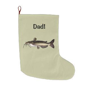 Personalizable conocido del siluro calcetín navideño grande