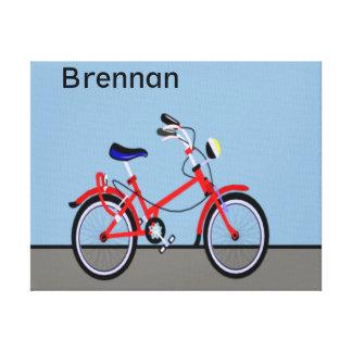 Personalizable conocido rojo de la bicicleta y del impresiones en lona estiradas