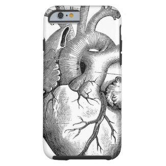Personalizable de la anatomía el   del corazón del funda de iPhone 6 tough