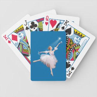 Personalizable de la bailarina y de la estrella baraja cartas de poker