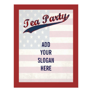Personalizable de la bandera de la fiesta del té folleto 21,6 x 28 cm