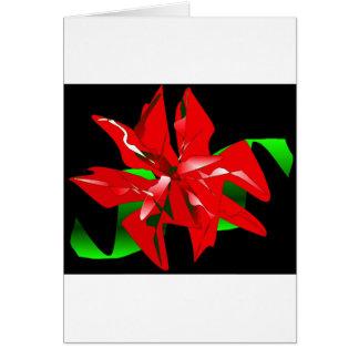 Personalizable de la flor del navidad tarjeta de felicitación