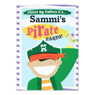 Personalizable de la invitación del pirata invitación 11,4 x 15,8 cm