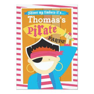 Personalizable de la invitación del pirata