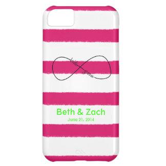 Personalizable de la novia y del novio del infinit funda para iPhone 5C