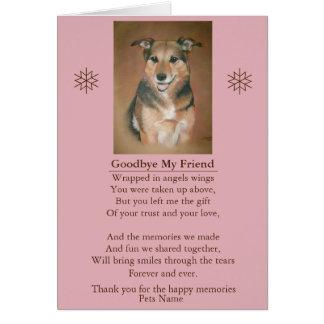personalizable de la original del poema de la tarjeta de felicitación