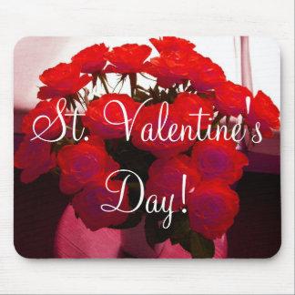 Personalizable de la tarjeta del día de San Valent Tapete De Raton