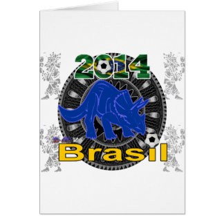 PERSONALIZABLE DEL BRASIL WORLDCUP DINOSAURIO TARJETÓN