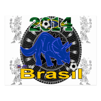 PERSONALIZABLE DEL BRASIL WORLDCUP DINOSAURIO POSTAL