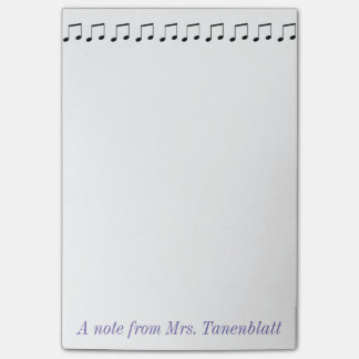 Personalizable del cuaderno de notas de la música