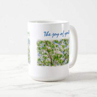 Personalizable del flor de la manzana de cangrejo taza de café