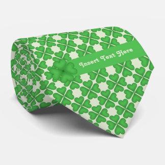 Personalizable del modelo de cuatro de la hoja corbata personalizada