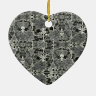 personalizable del skullchain adorno de cerámica en forma de corazón