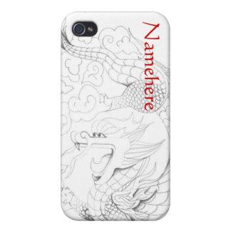 Personalizable: Dragón del Año Nuevo iPhone 4 Cárcasa
