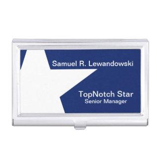 Personalizable elegante de la estrella blanca caja para tarjetas de visita