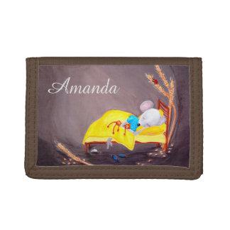 Personalizable embroma la cartera linda del ratón