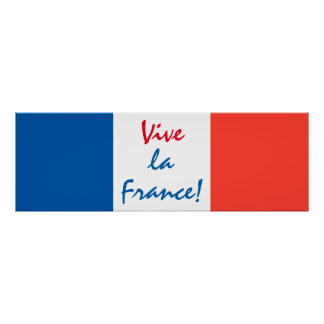 Personalizable francés de la bandera de Francia Póster