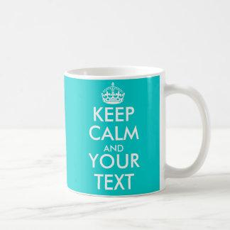 Personalizable guarda la taza tranquila con