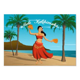 Personalizable hawaiano de Mele Kalikimaka del Invitación 12,7 X 17,8 Cm
