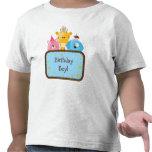 Personalizable lindo del muchacho del cumpleaños d camisetas