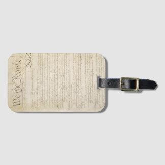 Personalizable nosotros la constitución de la etiquetas para maletas