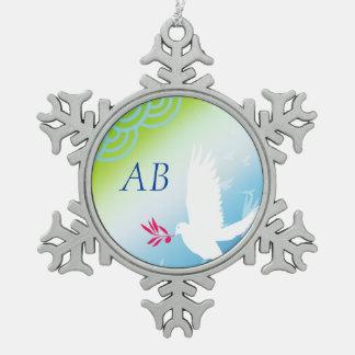 Personalizable: Paloma de la paz Adornos