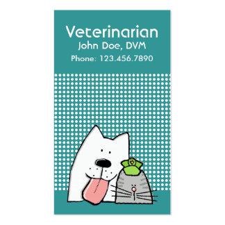 Personalizable profesional del gato del perro del tarjetas de visita
