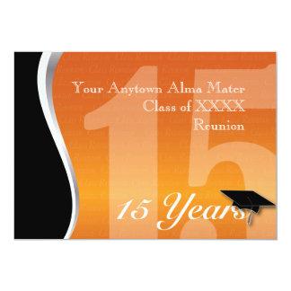 Personalizable reunión de antiguos alumnos de 15 invitación 12,7 x 17,8 cm