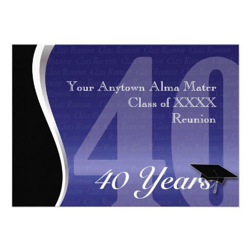 Personalizable reunión de antiguos alumnos de 40 a comunicado personalizado