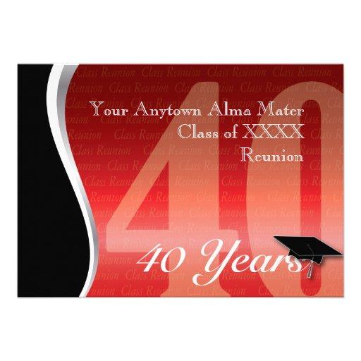 Personalizable reunión de antiguos alumnos de 40 a comunicados personales