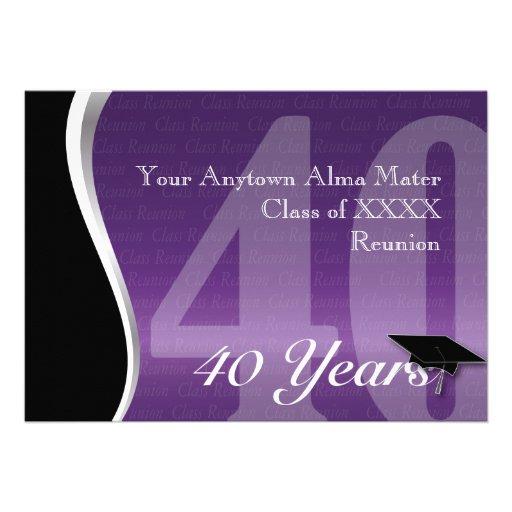 Personalizable reunión de antiguos alumnos de 40 a comunicado