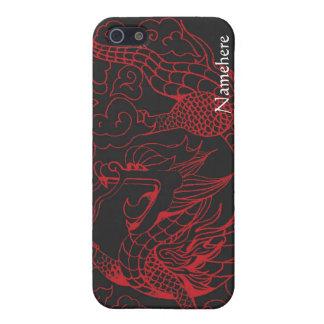 Personalizable: Rojo del dragón del Año Nuevo iPhone 5 Cárcasa