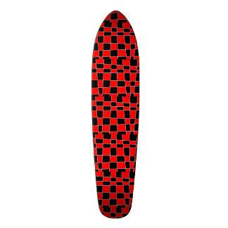 Personalizable rojo y negro de la tela escocesa tabla de patinar
