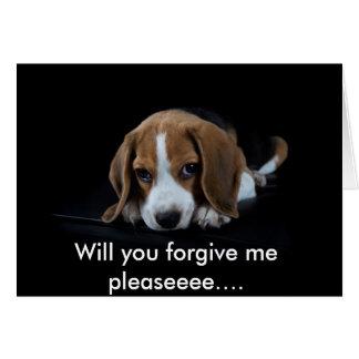 Personalizable soy perrito lindo del beagle de la tarjeta de felicitación