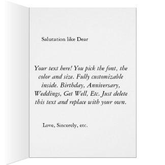 Personalizable, tarjeta de felicitación