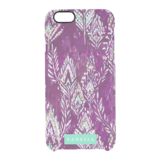 PERSONALIZABLE tribal de la impresión de la pluma Funda Clear Para iPhone 6/6S