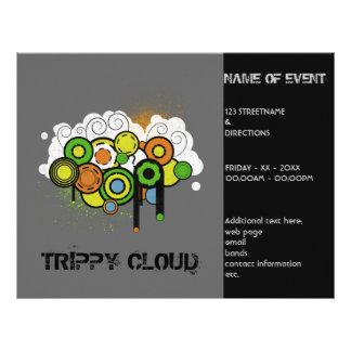 Personalizable Trippy de la nube Tarjeton