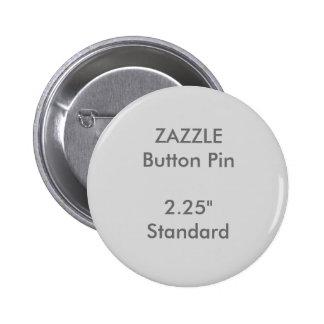 """Personalizado 2,25"""" de ZAZZLE GRIS redondo Chapa Redonda De 5 Cm"""