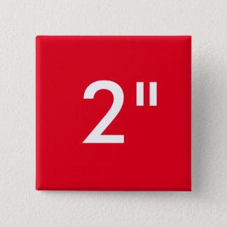 """Personalizado 2"""" plantilla cuadrada del espacio en chapa cuadrada"""