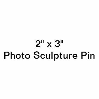 """Personalizado 2"""" x 3"""" Pin de la escultura de la fo Escultura Fotográfica"""