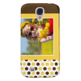 Personalizado 3G (amarillo) de la foto de Polkadot Carcasa Para Galaxy S4