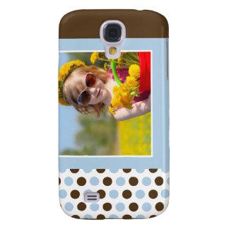 Personalizado 3G de la foto de Polkadot (azul) Samsung Galaxy S4 Cover